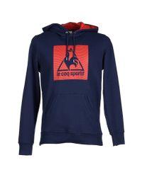 Le Coq Sportif - Blue Sweatshirt for Men - Lyst