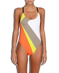 MILLY - Multicolor Cabana Amalfi Colorblock Maillot - Lyst