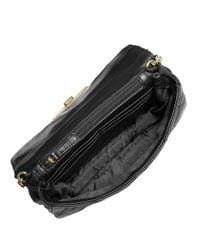 MICHAEL Michael Kors | Black Sloan Quilted Leather Messenger Bag | Lyst