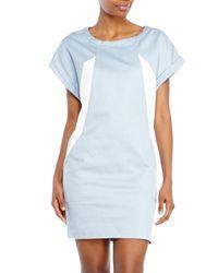 Maje - Blue Color Block Shift Dress - Lyst