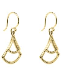 Dinny Hall - Metallic 22ct Gold Plated Sterling Silver Trapeze Double Drop Earrings - Lyst