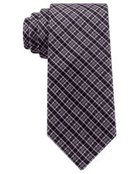 Kenneth Cole Reaction | Black Modern Classic Check Slim Tie for Men | Lyst