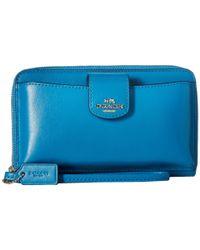 COACH | Blue Box Program Leather Universal Pocket Phone Wallet | Lyst