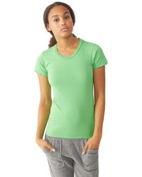 Alternative Apparel | Green Destroyed Womens T-shirt | Lyst