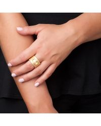 Asha | Metallic Knocker Ring | Lyst