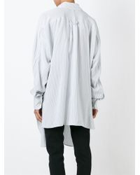 Faith Connexion - White Oversized Striped Shirt - Lyst