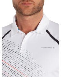Björn Borg   White Hand Drawn Stripe Polo Shirt for Men   Lyst