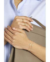 Jennifer Meyer - Metallic 18-Karat Gold Diamond Four-Leaf Clover Bracelet - Lyst