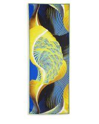 Roberto Cavalli - Blue Swirled Silk Scarf - Lyst