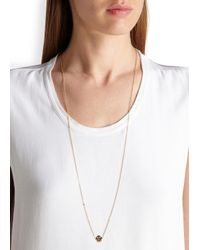 MFP MariaFrancescaPepe | Metallic Alien Invader 23kt Gold-plated Necklace | Lyst