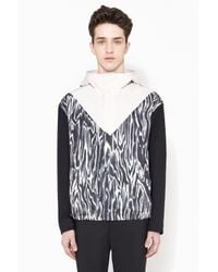3.1 Phillip Lim - Gray Box Cut Snap Up Jacket With Adjustable Hood for Men - Lyst