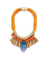 Holst + Lee - On The Beach In Hawaii Necklace - Orange Multi - Lyst