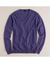 J.Crew - Purple Italian Cashmere V-neck Sweater for Men - Lyst
