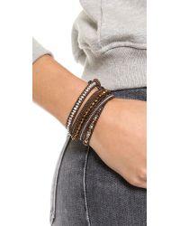 Chan Luu - Beaded Wrap Bracelet - Brown Mix/Natural Dark Brown - Lyst