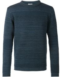 S.N.S Herning | Blue 'torso' Crew Neck Sweater for Men | Lyst