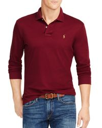 Polo Ralph Lauren | Purple Long-sleeved Pima Soft-touch Polo Shirt for Men | Lyst