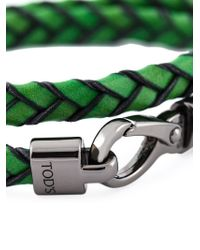 Tod's - Green 'My Colours' Bracelet - Lyst