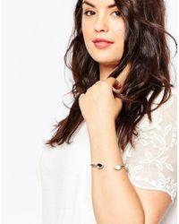 ASOS - Metallic Open Cuff Bracelet - Lyst