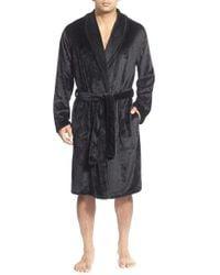 ea5688ffdc Lyst - UGG Australia  redford  Fleece Robe in Black for Men
