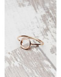 Forever 21 | Pink Shashi Open Circle Ring | Lyst