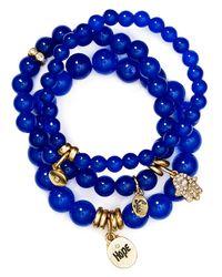 Sequin - Blue Hope Hamsa Bracelets, Set Of 3 - Lyst