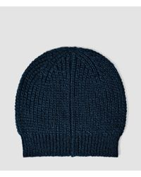 AllSaints   Blue Montall Beanie Hat for Men   Lyst