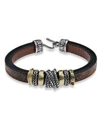 Platadepalo - Multicolor Resin Bronze & Leather Bracelet for Men - Lyst