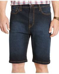 Izod | Blue Big And Tall Comfort-fit Stretch-denim Shorts for Men | Lyst
