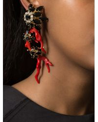 DSquared²   Red Floral Single Earring   Lyst