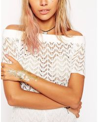Orelia - Metallic Hand Temporary Tattoo - Lyst