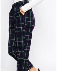 ASOS | Multicolor Petite Woven Peg In Navy Tartan Check | Lyst