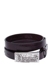 DSquared² - Brown 20mm Vintage Effect Leather Belt - Lyst