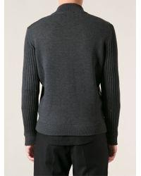 Ferragamo - Black Knitted Jacket for Men - Lyst