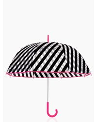 kate spade new york | Black Stripe Umbrella | Lyst