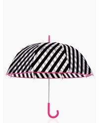 kate spade new york - Black Stripe Umbrella - Lyst