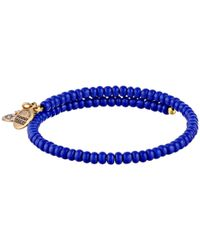 ALEX AND ANI - Blue Seahorse Wrap Bracelet - Lyst