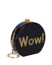 Edie Parker - Black Oscar Wow! Circle Clutch Bag - Lyst