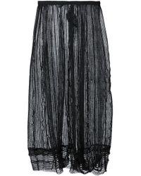Yohji Yamamoto   Black Sheer Net Skirt   Lyst