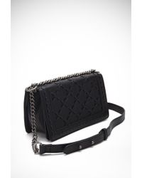 Forever 21 - Black Stitched Faux Leather Crossbody - Lyst