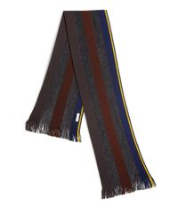 Paul Smith | Gray Striped Knit Wool Scarf for Men | Lyst