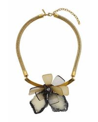 TOPSHOP | Green Shard Large Flower Collar | Lyst