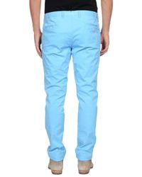 Luigi Borrelli Napoli - Blue Casual Trouser for Men - Lyst