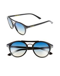 Steve Madden | Black 50mm Round Retro Sunglasses | Lyst