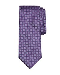 Brooks Brothers - Purple Four-dot Windowpane Tie for Men - Lyst