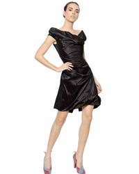 Vivienne Westwood | Black Off Shoulder Silk Taffeta Dress | Lyst