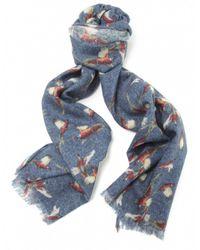 Jules B - Blue Wool Pheasant Scarf for Men - Lyst