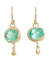 Judy Geib - Metallic Colombian Emerald & Gold Ball Drop Earrings - Lyst