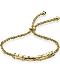 Monica Vinader | Metallic Esencia Scatter 18ct Gold-plated Bracelet | Lyst