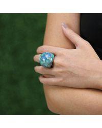 Arunashi - Blue Seamless Opal Dome Ring - Lyst