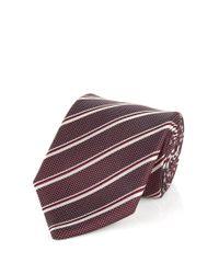BOSS - Red 'tie 7.5 Cm' | Regular, Silk Stripe Tie for Men - Lyst